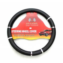 BK/GR Steering Wheel Cover