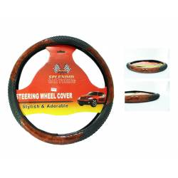 TR/Bk Steering Wheel Cover
