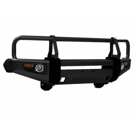 Deluxe Full Width Black Front Winch HD Bumper with Grille Guard Toyota revo